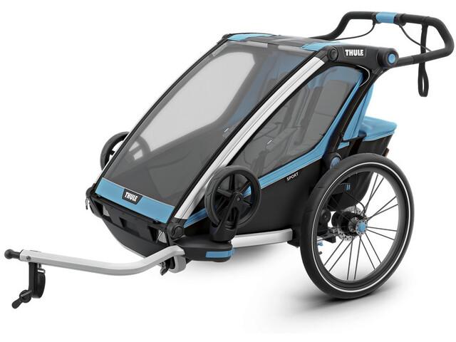 Thule Chariot Sport 2 Bike Trailer, thule blue/black (2019) | bike_trailers_component